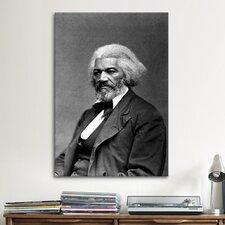 Political Frederick Douglass Portrait Photographic Print on Canvas