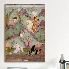Islamic Khusraw Beholding Shirin Bathing Painting Print on Canvas