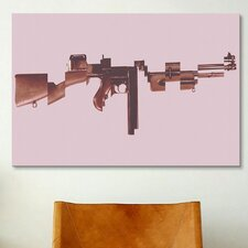 Mugshot Gangster's Toy (Machine Gun) Graphic Art on Canvas