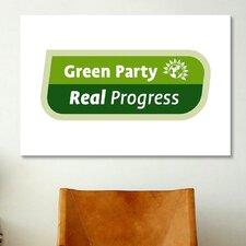 Political 'Green Party Symbol' Textual Art on Canvas