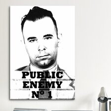 Mugshot John Dillinger; Public Enemy Number 1 - Gangster Photographic Print on Canvas