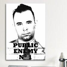 Mugshot John Dillinger; Public Enemy Number 1 - Gangster Photographic Print on Canvas