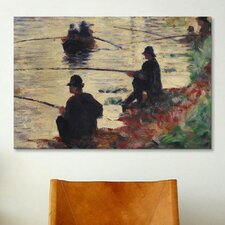 'Anglers' by Georges Seurat Painting Print on Canvas