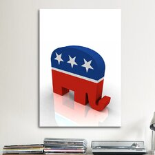Political GOP Republican Party Elephant Symbol Graphic Art on Canvas