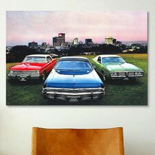 Cars and Motorcycles Dodge Monaco, Charger, Dart Photographic Print on Canvas