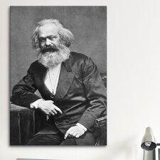 Political Karl Marx Portrait Photographic Print on Canvas