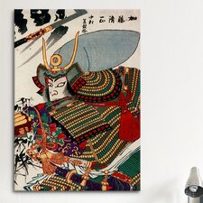 Japanese Art Kato Kiyomasa Woodblock Painting Print on Canvas