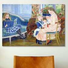 'Der Nachmittag der Kinder in Wargemont' by Pierre-Auguste Renoir Painting Print on Canvas