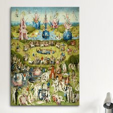 'Full Central Panel from the Garden of Earthly Delights' by Hieronymous Bosch Painting Print on Canvas