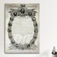 Political Declaration of Independence Graphic Art on Canvas