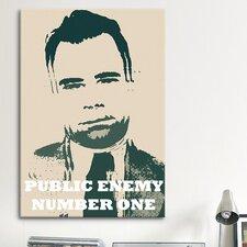Mugshot John Dillinger (1903-1934) - Blurry Look; Public Enemy Number 1 - Gangster Graphic Art on Canvas