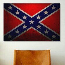 Political Confederate Flag Graphic Art on Canvas