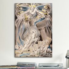 'Job's Sons and Daughters Overwhelmed by Satan' by William Blake Painting Print on Canvas