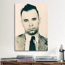 John Dillinger - Gangster Mugshot Photographic Print on Canvas