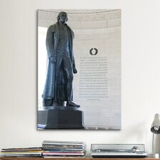 Political Jefferson Memorial Photographic Print on Canvas