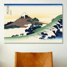'Inume Pass in The Kai Province' by Katsushika Hokusai Painting Print on Canvas