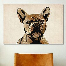 'French Bulldog' by Michael Tompsett Graphic Art on Canvas