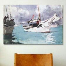'Fishing Boats, Key West 1903' by Winslow Homer Painting Print on Canvas