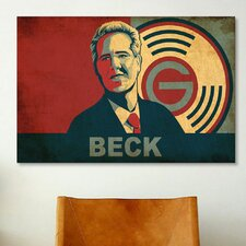 Political Glenn Beck Stencil Portrait Graphic Art on Canvas
