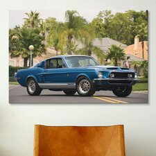 Cars and Motorcycles 1968 Shelby Gt 500 Kr Fastback Photographic Print on Canvas