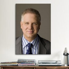 Political Glenn Beck Portrait Photographic Print on Canvas