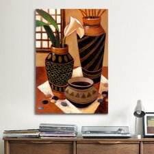 Still Life with African Bowl by Keith Mallett Painting Print on Canvas