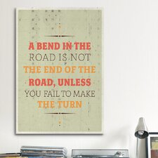 American Flat A Bend Textual Art on Canvas