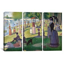 Georges Seurat Sunday Afternoon on the Island of La Grande Jatte 3 Piece on Canvas Set