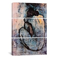 Picasso Nude Pablo 3 Piece on Canvas Set in Blue