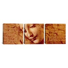 Leonardo da Vinci Female Head 3 Piece on Canvas Set