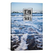 Leah Flores Ocean Blues 3 Piece on Canvas Set