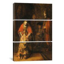 Rembrandt Return of the Prodigal Son 1668-1669 Van Rijn 3 Piece on Canvas Set