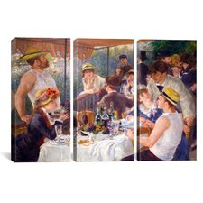 Auguste Renoir The Luncheon of The Boating Party Pierre- 3 Piece on Canvas Set