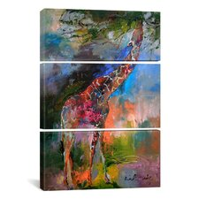 Richard Wallich Giraffe 3 Piece on Canvas Set