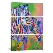 Richard Wallich Zebra 3 Piece on Canvas Set