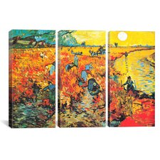 Vincent van Gogh The Red Vineyard At Arles 3 Piece on Canvas Set