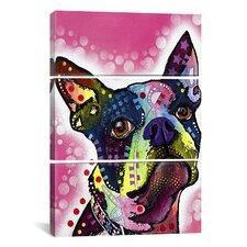 Dean Russo Boston Terrier 3 Piece on Canvas Set