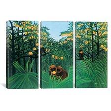 Henri Rousseau The Tropics 3 Piece on Canvas Set