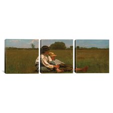 Winslow Homer Boys In a Pasture 3 Piece on Canvas Set