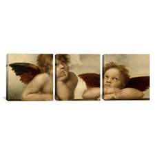 Raphael The Two Angels 3 Piece on Canvas Set