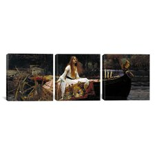 William Waterhouse The Lady of Shalott 3 Piece on Canvas Set