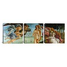 Botticelli Sandro The Birth of Venus 3 Piece on Canvas Set