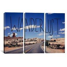 Leah Flores Wanderlust Road 3 Piece on Canvas Set