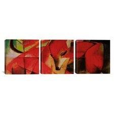 Franz Marc The Fox 3 Piece on Canvas Set
