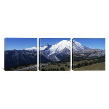Photography Mt Rainier National Park, Washington 3 Piece on Canvas Set