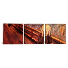 Edvard Munch The Scream 3 Piece on Canvas Set