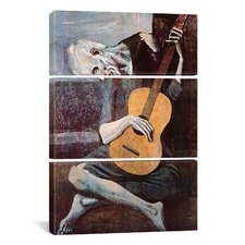 Picasso The Old Guitarist Pablo 3 Piece on Canvas Set