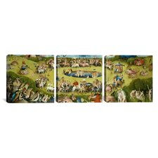 Hieronymus Bosch Top of Central Panel from The Garden of Earthly Delights 3 Piece on Canvas Set