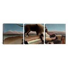 Henri Rousseau Sleeping Gypsy 3 Piece on Canvas Set