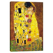 The Kiss by Gustav Klimt Painting Print on Canvas